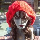 Hand Crochet Oversized Slouchy Beret Rasta Snood Red - Ready 2 Ship