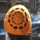 Hand Crochet Oversized Beret Rasta Snood Tam - Mango