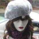 Hand Crochet Ladies Chunky Cowl Neckwarmer Dickie Goth Pink & Black