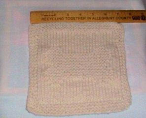 Hand Knit Natural Cotton Dog Bone Wash Cloth - Arrrfffff