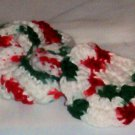 Hand Crochet Christams Cotton Tawashi Style Scrubber and Flower Scrubber - Set of 2