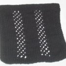 Hand Knit Cotton Textured Wash Cloth for Him - Black
