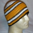 Hand Crochet ~ Steelers Beanie Black N Gold Unisex - 2
