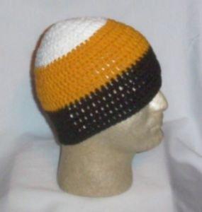 Hand Crochet ~ Steelers Beanie Black N Gold Unisex - 11