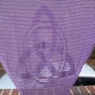 Hand Crochet Witchy Triangle Triquetra Shawl - Lavendar - Charmed