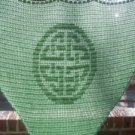 Hand Crochet Witchy Triangle Celtic Knot Shawl - Sage