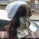 Hand Crochet Summer Slouchy Hat - White -  Ready 2 Ship