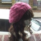 Hand Knit Oversized Slouchy Cabled Rose Beret Rasta Snood - Ready to Shi