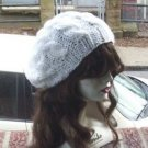 Hand Knit Oversized Slouchy Cabled White Beret Rasta Snood - Ready to Shi