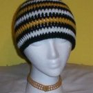 Hand Crochet ~ Steelers Beanie Black N Gold Unisex