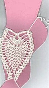 Hand Crochet Pineapple Barefoot Sandals Matches Bikinis