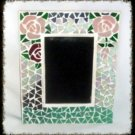 Hand Crafted Rose Stained Glass Scrying Mirror Divination Psychic OOAK Powerful