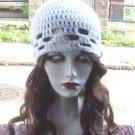 Hand Crochet White Lace Band Ladies Beach Hat  Made to Order Beach Chemo