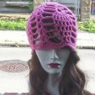 Hand Crochet Pink Pineapple Juliet Cap Matches Bikinis Made to Order Beach