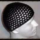 Hand Crochet - Men's Summer Mesh Hat - Black - Made 2 Order Chemo Summer