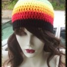 Hand Crochet - Ladies Gay Pride Rainbow Beanie Unisex Chemo