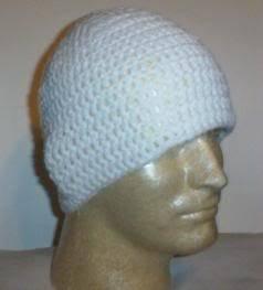 Hand Crochet Mens Cotton Skull Beanie White Chemo Celkebrity Summer Cool