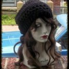 Hand Crochet Summer Slouchy Hat - Black Beach Vacation Cruise
