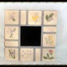 Hand Crafted Flower Tile Scrying Mirror Divination Psychic OOAK Powerful
