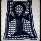 Hand Crochet Navy Anhk Lace Panel Doily Altar Cloth Wall Hanging Made 2 Order