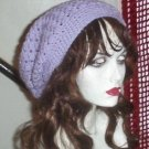 Hand Crochet Summer Super Slouchy Hat - Lavendar - Ready 2 Ship