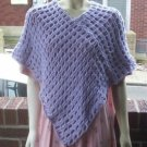 Hand Crochet Lavendar Ariel Poncho - One Size Fits Most