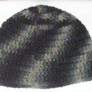 Hand Crochet ~ Skull Cap Beanie Urban Camoflauge