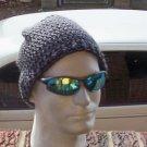 Hand Crochet Men's Slouchy Beanie - Dark Grey  - Made 2 Order