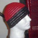 Hand Crochet Men's Beanie Hat Zac Brown Band - 8 inch - Wine Black
