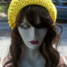 Hand Crochet Summer Slouchy Hat - Yellow
