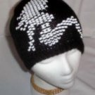 Hand Knit Beaded Picture Ladies Beanies Mudflap Lady