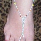 Chakra Barefoot Sandals Silver Cord
