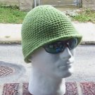 Hand Crochet Men's Hat Bucket Style - Tea Leaf Green
