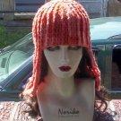 Hand Crochet Orange shaded Wig Hat