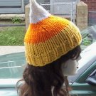 Hand Knit Candy Corn Hat