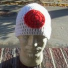 Hand Crochet Mens Beanie Flag Colors Japan
