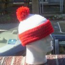 Hand Crochet Unisex Beanie - Wheres Waldo Flip Hat Unisex