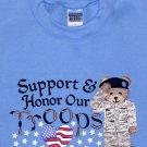 Embroidered Army Bear Sweatshirt -Sz Med