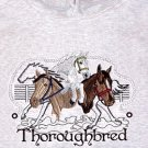 Embroidered Thoroughbred Horse Sweatshirt - Sz Lrg