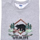 Embroidered Wildlife Bear Sweatshirt - Sz XL