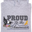 Embroidered Patriotic Eagle Sweatshirt - Sz Lrg