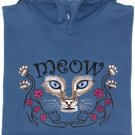 Embroidered Cat Meow Sweatshirt - Sz Lrg