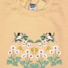 Embroidered Spring Chickadees Sweatshirt -Sz Med