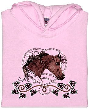 Embroidered Arabian Horse Sweatshirt -Sz Sm