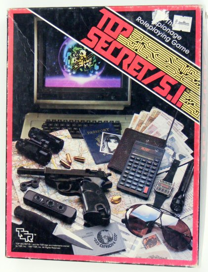 TSR RPG Top Secret SI with Players Guide Commando Box 7620 7631 BBBF25