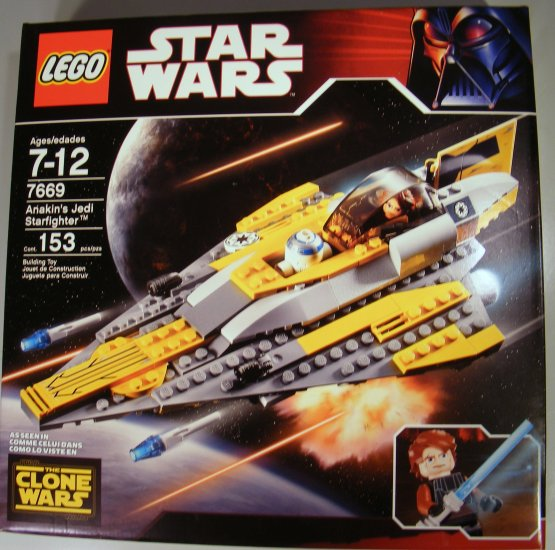 NEW Lego Star Wars Anakins Jedi Starfighter 7669