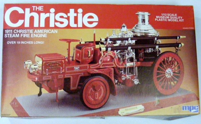 "1982 MPC 1911 ""The Christie"" Fire Engine in Box Huge Kit Model NMIB"
