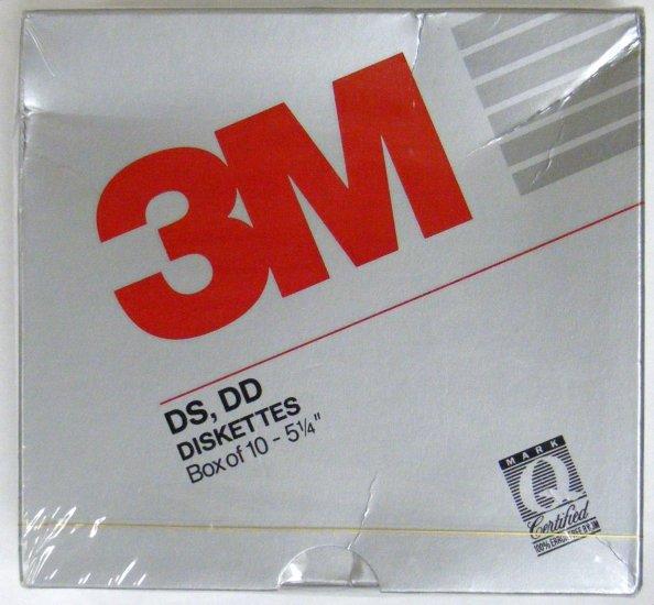"3M 10 5.25"" 5 1/4"" 360K Disks Diskettes DSDD NEW"