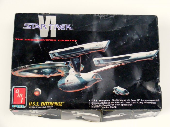 AMT STAR TREK VI USS ENTERPRISE SHIP MODEL KIT