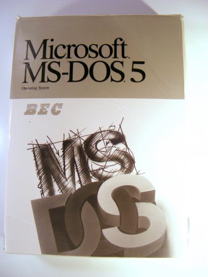 "Vintage Microsoft MS-DOS Version 5.0 BEC Branded 5.25"" Disks"